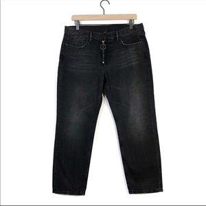 All Saints Track Boyfriend Charcoal Black Jeans 30